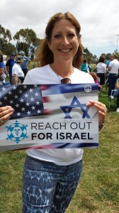 """Diana Lerner, representing Camp Mountain Chai and who currently has a son touring Israel as part of the National Federation of Temple Youth, said """"I enjoy getting together with my community in peaceful times also and will do whatever I can to support Israel."""""""