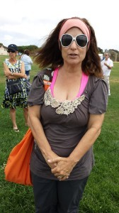 """Ilissa Berman of Encinitas believed that coming to the rally was important because it was """"less isolating."""""""
