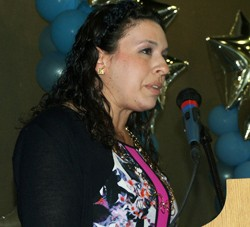 Charlene Seidle  at Soille San Diego Hebrew Day School celebration