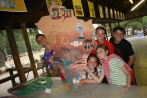 """Campers at Moshava, a religious Zionist camp whose director, Alan Silverman, writes that the goal is to """"introduce new elements of 'old' concepts and themes to students who already have an excellent foundational understanding of Judaism and Zionism."""" Credit: Camp Moshava."""