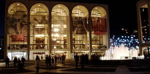 Outside the  New York Metropolitan Opera House at Lincoln Center in New York City. Credit: Wikimedia Commons.